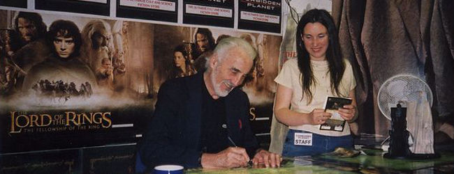 Christopher Lee, Two Towers Signing, Jan 2008, Danacea