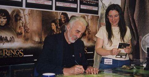 Christopher Lee, Two Towers Signing, Jan 2008, Danacea