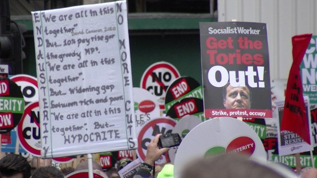 End Austerity Now, 20 June 2015 – David Cameron Hypocrite