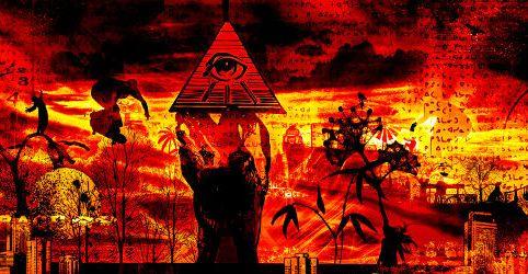 Illuminati Eye Re Black by Wendelin Jacober