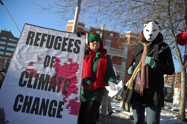 Climate Change Refugees, Calgary, Alberta in December 2007 by ItzaFineDay