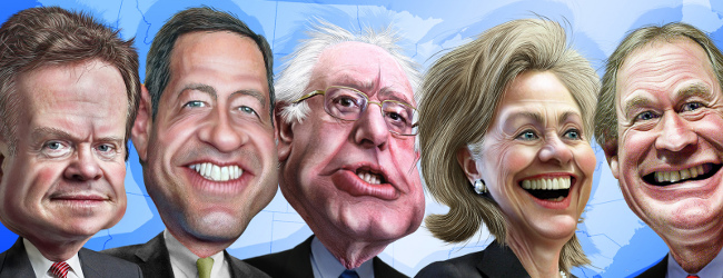 Democrat presidential candidates, August 2015 by DonkeyHotey