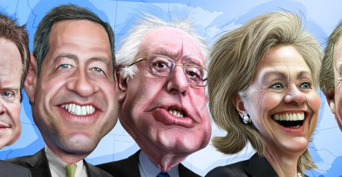 Democrat presidential candidates, August 2015 by DonkeyHotey