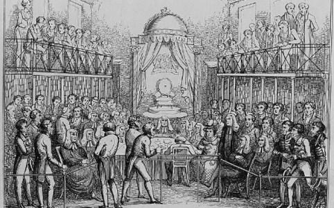 House of Lords during Queen Caroline trial, via Ashley Van Haeften