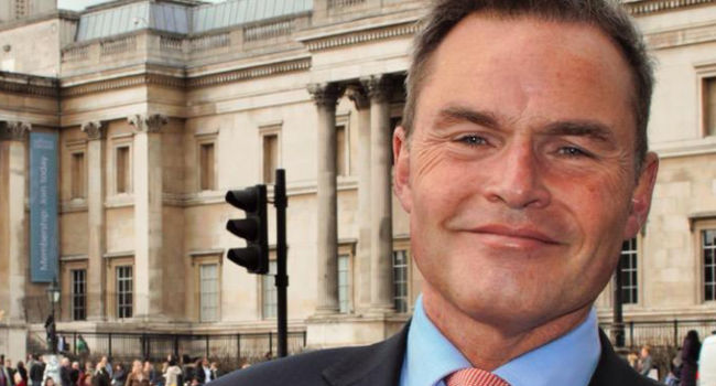 Peter Whittle outside National Gallery via Twitter