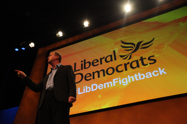 Tim Farron at Lib Dem Conference, September 2015