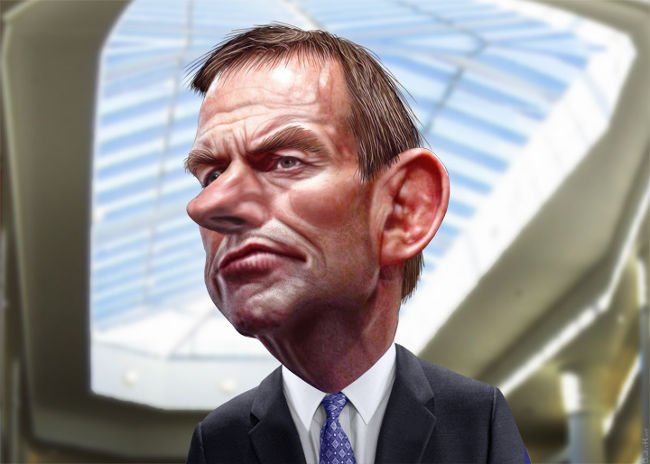 Tony Abbott caricature by DonkeyHotey