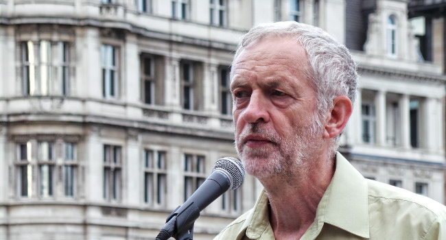 Jeremy Corbyn, No More War, August 2014 by Garry Knight