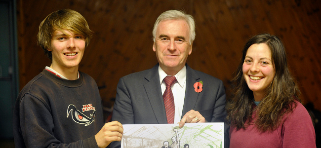 John McDonnell, November 2011 by Transition Heathrow