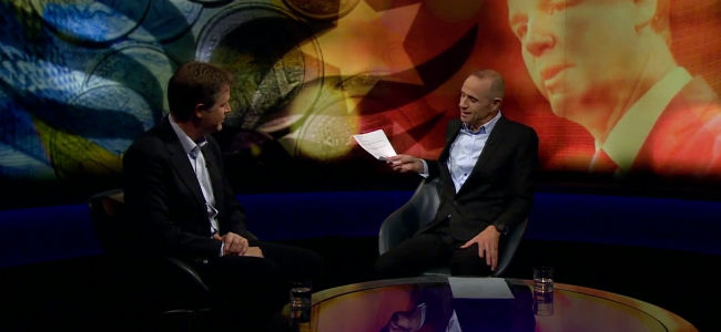 Nick Clegg and Evan Davis, October 2015 by Newsnight