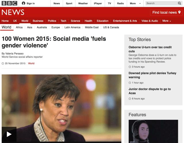 BBC social media fuels gender violence