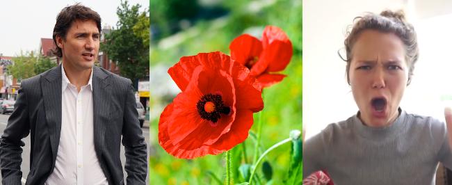 RD E22, Justin Trudeau, Remembrance Poppies, Essena O'Neill