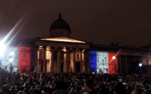 French Tricolour on National Gallery, by Jimmy Nicholls