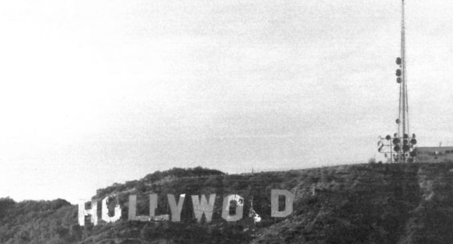 Hollywood Sign in disrepair, circa 1978 by Bob Beecher