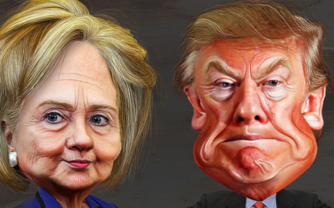 Clinton vs Trump by DonkeyHotey