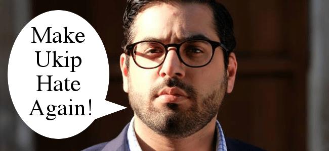 Raheem Kassam Make Ukip Hate Again