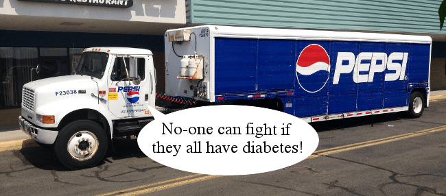 Right Dishonourable Pepsi diabetes gag