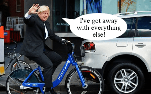 RD116 Boris Johnson getaway