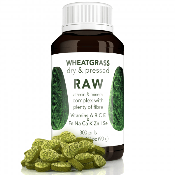 RAW Wheatgrass Pressed Sprouts 300 Capsules 1