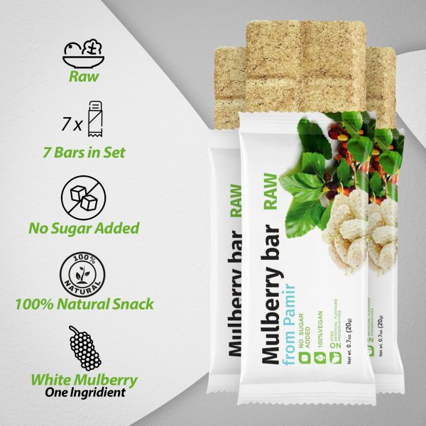 Raw Mulberry Fruit Bar – Pack of 7 Bars