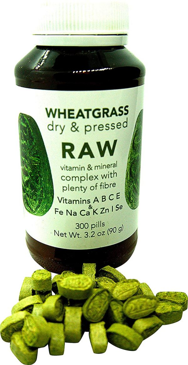 RAW Wheatgrass Pressed Sprouts 300 Capsules 9