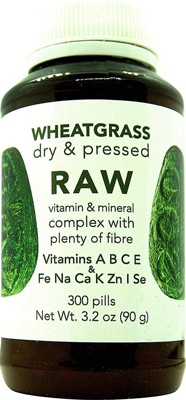 RAW Wheatgrass Pressed Sprouts 300 Capsules 3