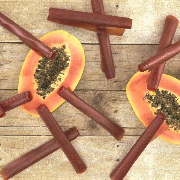 RAW Vegan Fruit Leather 10.6 oz (300 g) - Papaya Dehydrated Sheets 12