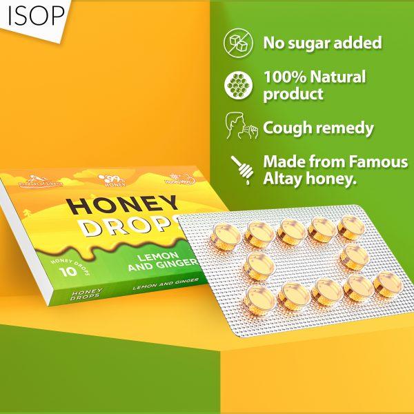 Honey Hard Candy - 100% Pure Honey Lemon and Ginger 1