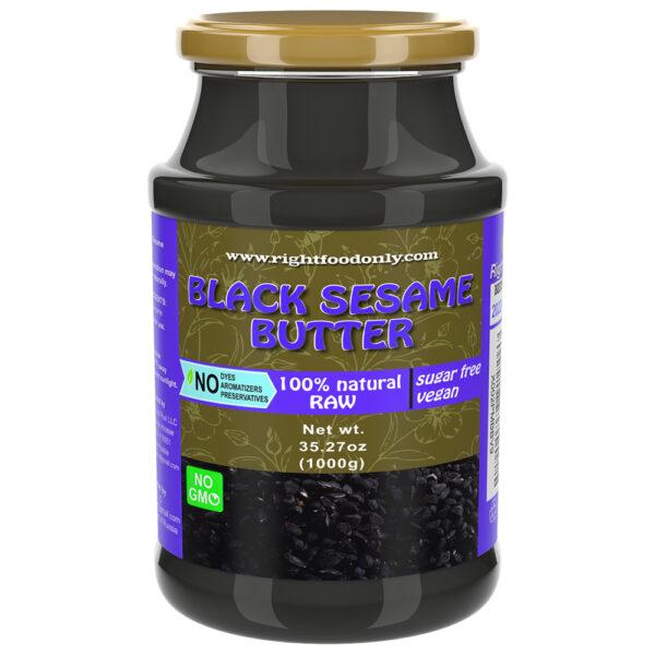 Black Sesame Seed Butter 1kg | Healthy Nut Spread | Vegan Food | Good Source of Plant Proteins (Black Sesame 1 kg)