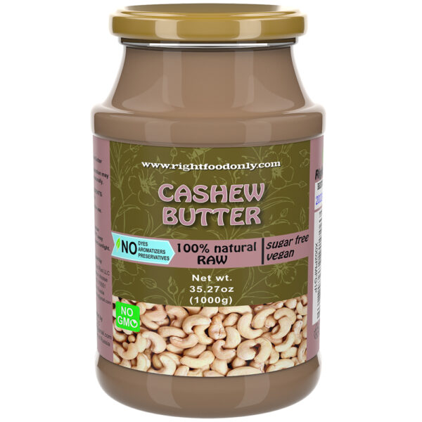 Cashew Nut Butter Spread 1 kg   No DYEs   One ingredient   No Added Sugar Urbech   All Natural   100% Superfood