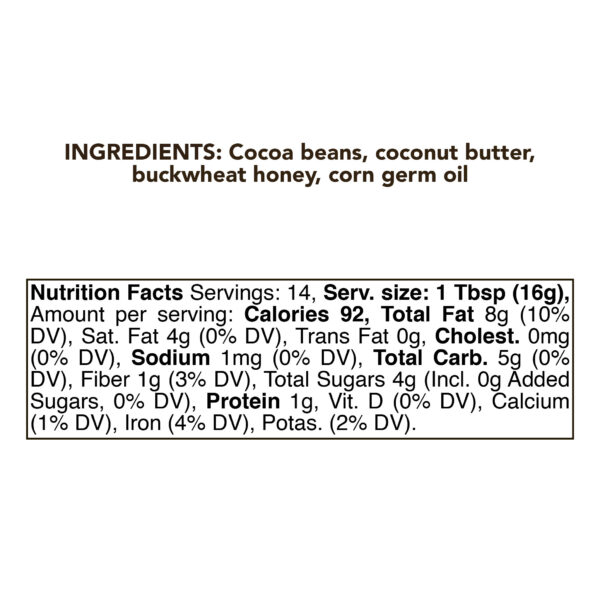 Chocolate Coconut Butter 230g (8oz) 1