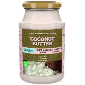 Coconut Butter 1kg | All Natural | No Sugar Added | One Ingredient | Vegan Spread | 100% Superfood (Coconut 1 kg)