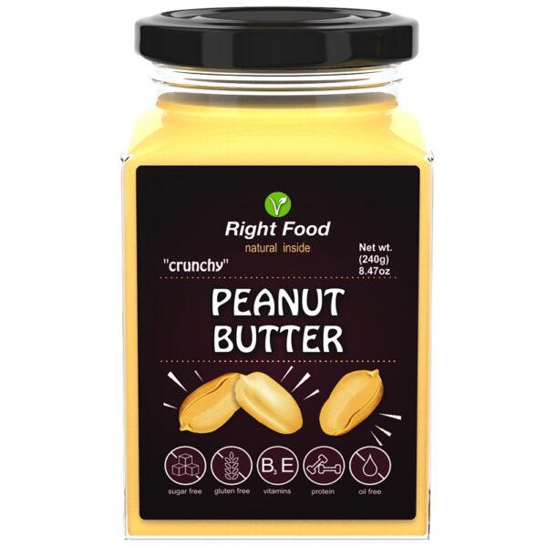 Crunchy Peanut Butter Urbech 240g   Keto Butter   No Sugar Added   Vegetable Protein   Vegan Superfood