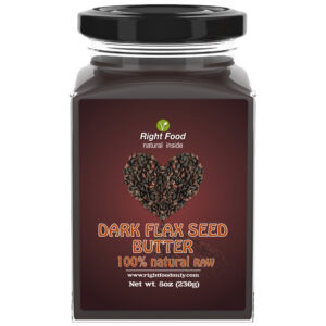 Dark Flaxseed Butter | Non-GMO Urbech | Sugar Free | One Ingredient | Great Source of Omega 3 6 9 | 100% Superfood | 8 oz