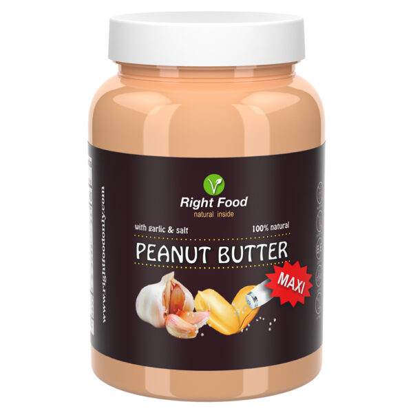 Peanut Butter with Garlic & Salt Urbech 1kg   Keto Butter   No Sugar Added   Vegetable Protein   Vegan Superfood