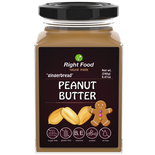Gingerbread Peanut Butter Urbech 240g | Keto Butter | No Sugar Added | Vegetable Protein | Vegan Superfood