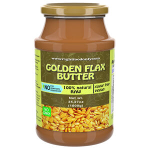 Golden Flaxseed Butter | Non-GMO Urbech | Sugar Free | One Ingredient | Great Source of Omega 3 6 9 | 100% Superfood