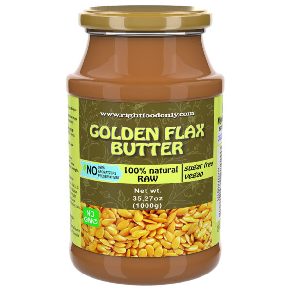 Golden Flaxseed Butter   Non-GMO Urbech   Sugar Free   One Ingredient   Great Source of Omega 3 6 9   100% Superfood