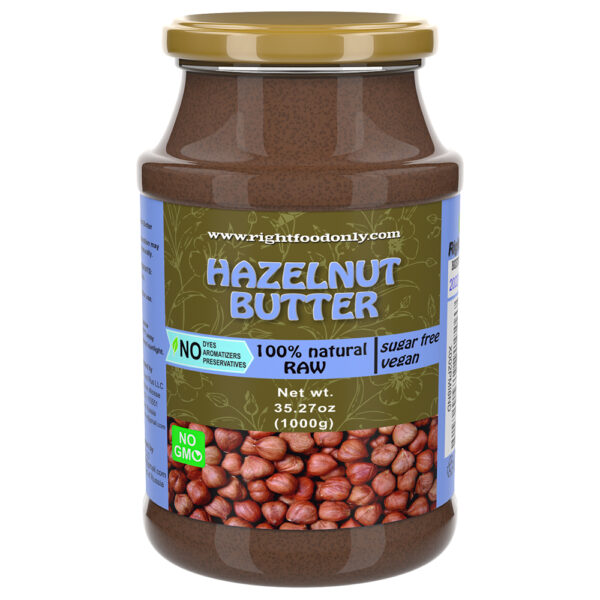 Hazelnut Butter Urbech 1 kg | Healthy Vegan Spread | Protein 13g | Non-GMO | Keto | No Added Sugar | No Oil | Low Carb | 100% Superfood