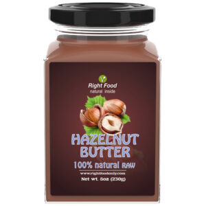 Hazelnut Butter Urbech 8 oz (230g) | Healthy Vegan Spread | Protein 13g | Non-GMO | Keto | No Added Sugar | No Oil | Low Carb | 100% Superfood