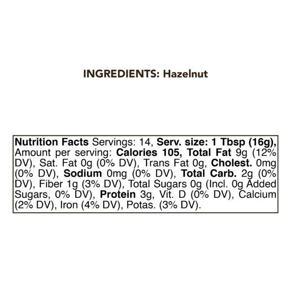 Hazelnut Butter Urbech RAW 8 oz (230g) 1