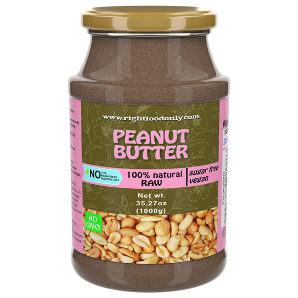 Peanut Butter 1 kg | Oil Free | No Added Sugar | Vegan Protein 100% Superfood