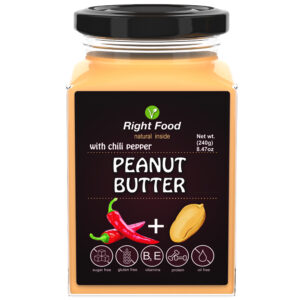 Peanut Butter with Chili Pepper Urbech 240g | Keto Butter | No Sugar Added | Vegetable Protein | Vegan Superfood