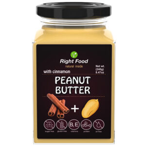 Peanut Butter with Cinnamon 240g | Keto Butter | No Sugar Added | Vegetable Protein | Vegan Superfood. Free delivery within 3-7 days.