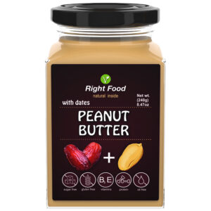 Peanut Butter with Dates Urbech 240g | Keto Butter | No Sugar Added | Vegetable Protein | Vegan Superfood