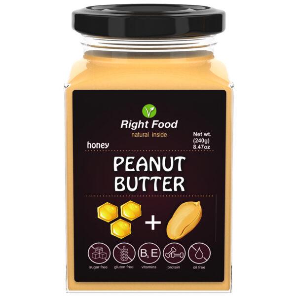 Peanut Butter & Honey 240g   Keto Butter   No Sugar Added   Vegetable Protein   Vegan Superfood