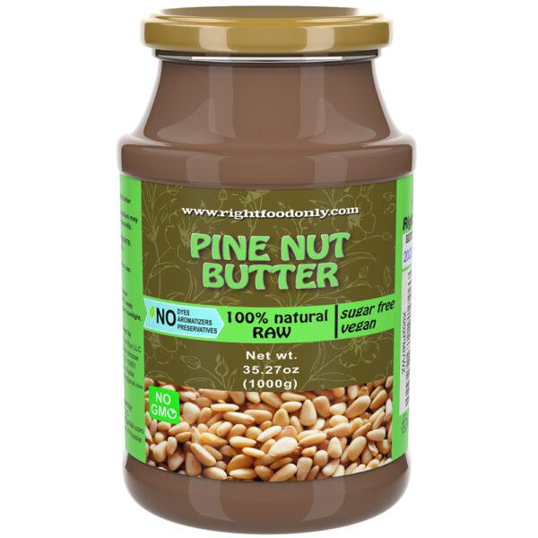 Pine Nut Butter 1 kg RAW | Wild Siberian Pine Nut Stone Ground | Urbech (Урбеч) 1 Ingredient | Non-GMO | No Added Sugar | Pure Vegan | 100% Superfood
