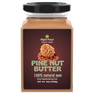 Pine Nut Butter 230g (8 Oz) RAW | Wild Siberian Pine Nut Stone Ground | Urbech (Урбеч) 1 Ingredient | Non-GMO | No Added Sugar | Pure Vegan | 100% Superfood