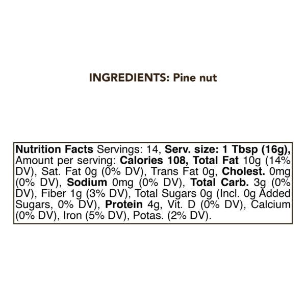 Pine Nut Butter 230g (8 Ounce) RAW 1