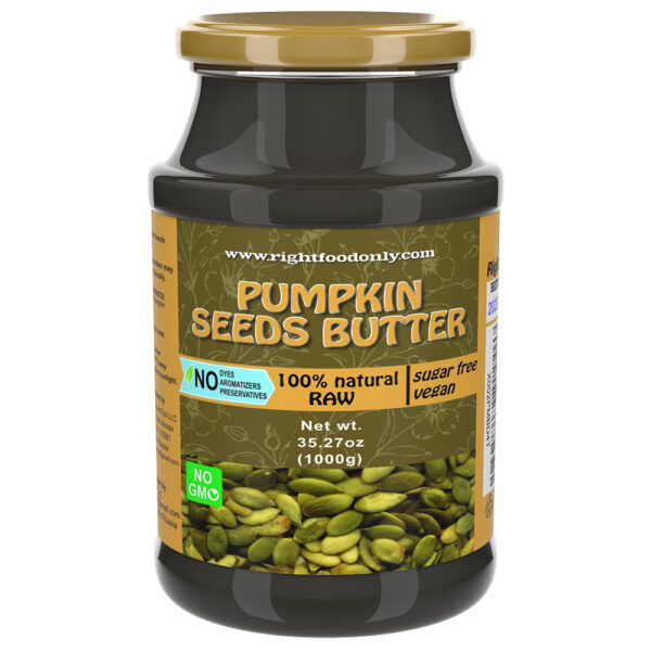 Pumpkin Seed Butter | Nut Butter | All-Natural Unsalted Seed Spread for Breakfast | Superfood Supports the Immune System & Helps Boost Energy | No Added Sugar or Fat | Vegan | Non-GMO